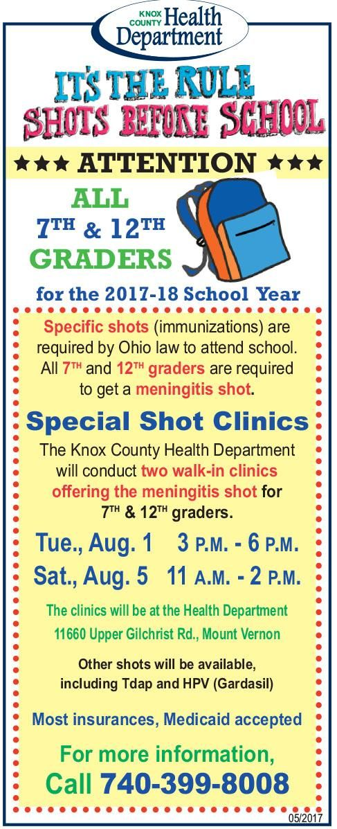 7-12th graders Shots